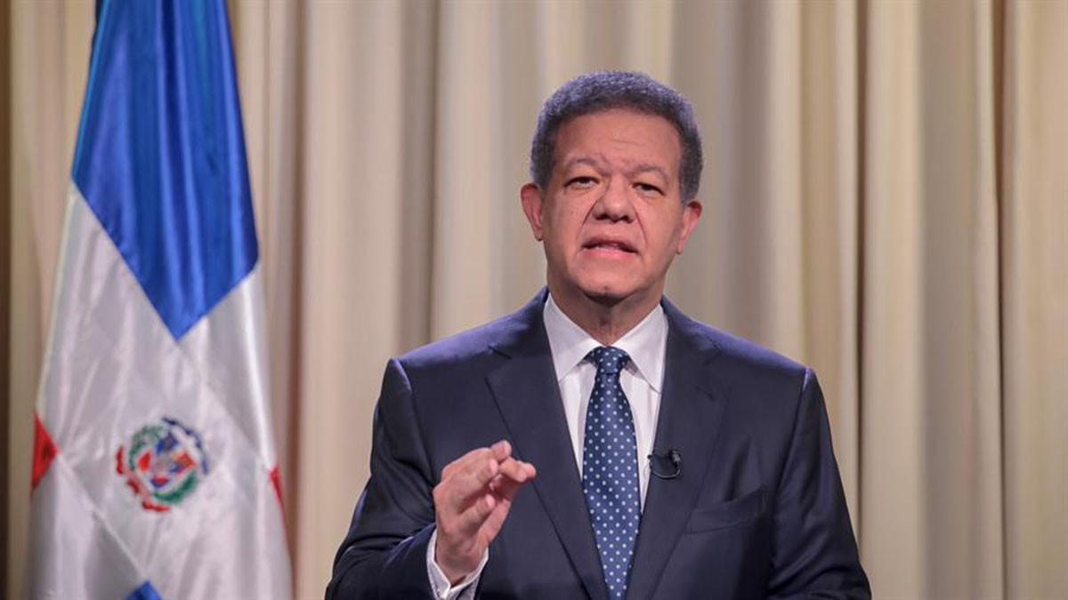 Leonel Fernández, presidente y aspirante a la presidencia de la República por Fuerza del Pueblo, Leonel Fernández, durante un discurso