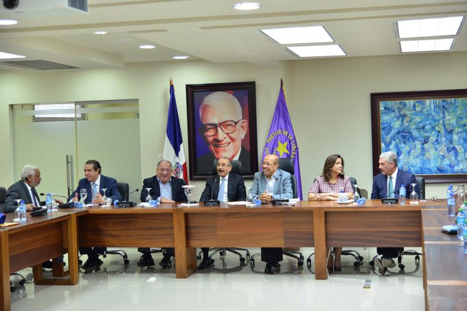 Comité político del Partido de la Liberación Dominicana (PLD) reunido