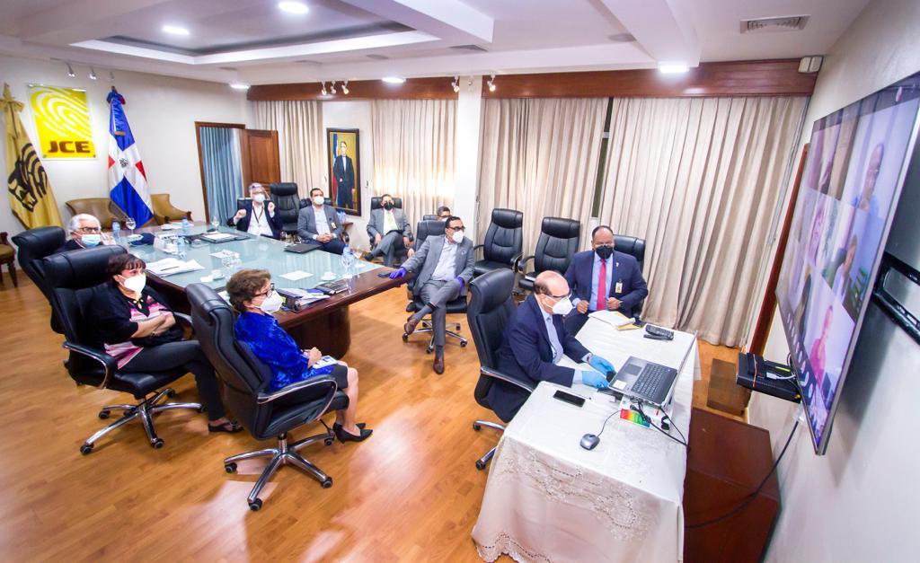 JCE revisa recintos electorales del exterior en reunión virtual