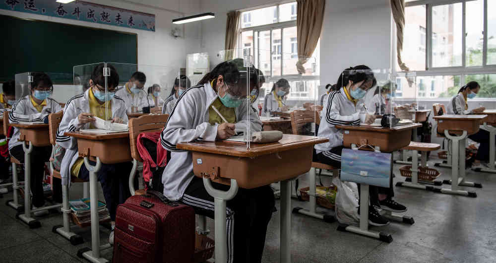 Colegios en medfio de la pandemia. Fuente externa.