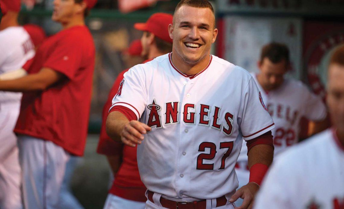 Mike Trout, pelotero de los Angelinos de Los Ángeles