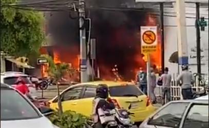 Incendio farmacia.