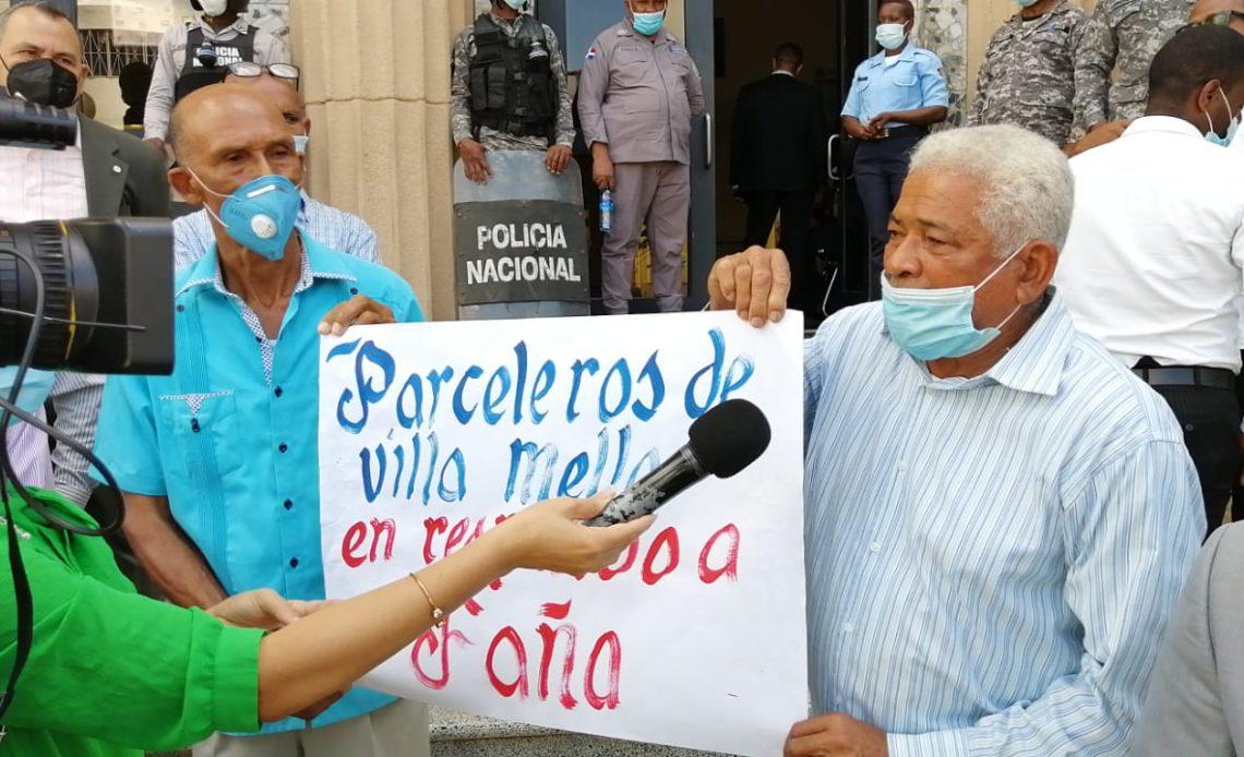 Protestas en favor de Faña