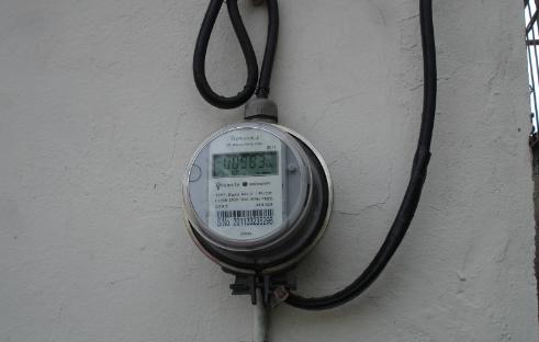 Medidor de electricidad.