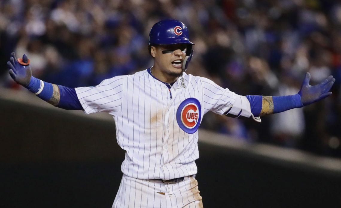 Javier Báez, jugador de los Cubs