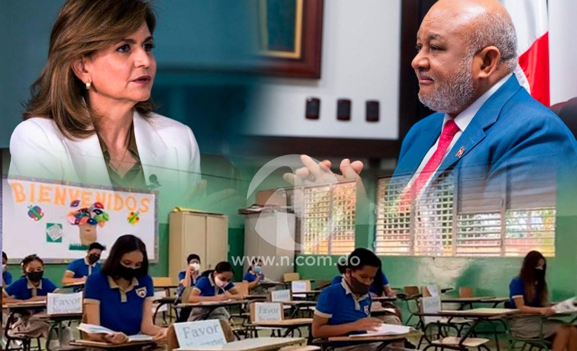 Raquel Peña dice colegios estarán abiertos