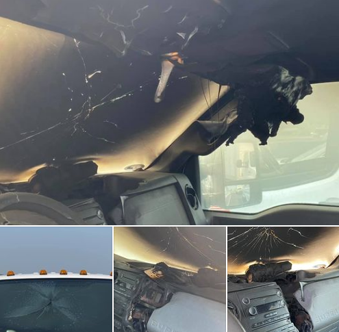Un rayo cae sobre un vehículo y lo funde por dentro